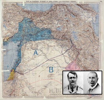 Sykes-Picot_map+portraits